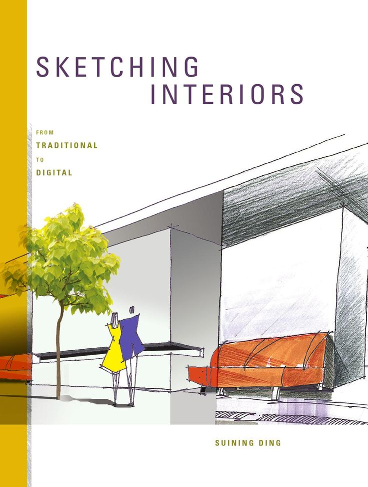 """""""Sketching Interiors"""" highlights four basic drawing skills for interior sketching across three different media—pencil, ink, and marker. The in-depth approach to various elements of sketching will help students perfect freehand and drawing skills."""
