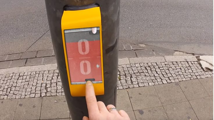 Playing Streetpong at pedestrian crossings is one way designers have used gamification to solve an urban problem.