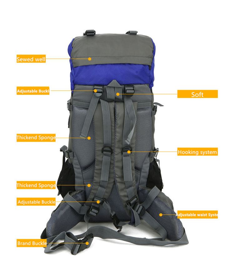 Free Knight SA008 60L Outdoor Waterproof Hiking Camping Backpack Red - Tmart