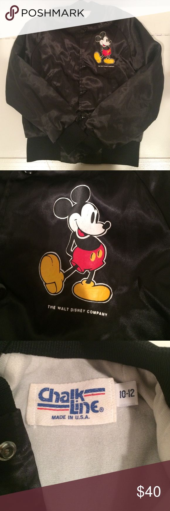 VTG RARE KIDS' MICKEY MOUSE BOMBER JACKET Cool kids' bomber jacket, size 10-12. Perfect vintage condition, authentic ChalkLine jacket. Vintage Jackets & Coats