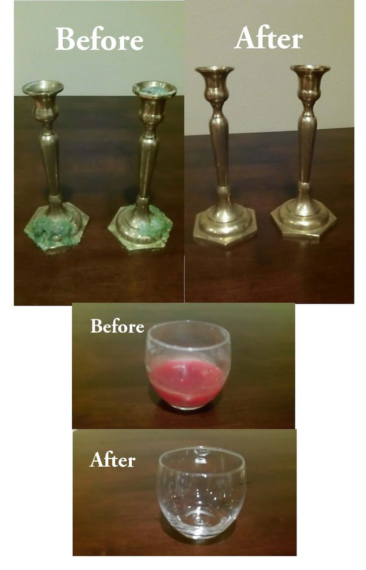 Removing Candle Wax    If wax has cooled, try these techniques for removing it:    Hot Water  If the candle holders are waterproof, run them under hot tap water and remove the wax by hand.    Freezing  Wax will shrink after a few hours in the freezer, making this a good technique for cleaning votive candle holder. The wax inside should pop right out. Any remaining residue should come off with just a light washing with mild dish soap.    Prevention  In order to avoid wax from sticking in the…