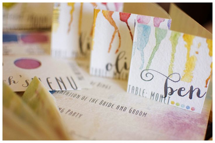 watercolor tablecards
