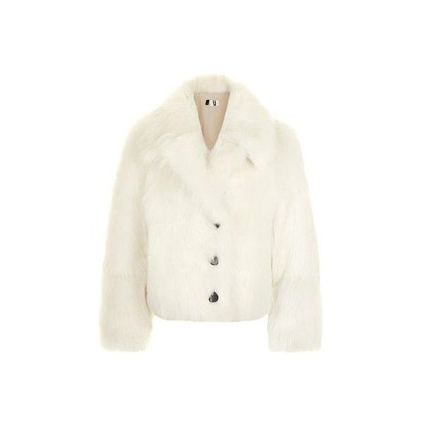 Chepstow Chubbie Coat by Unique (17.180 CZK) ❤ liked on Polyvore featuring outerwear, coats, white, topshop coats, button up coat, high waist coat, white coat and collar coat