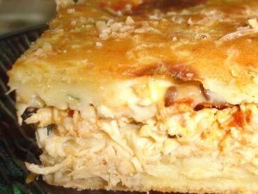 Receita de Torta de frango cremosa - Tudo Gostoso