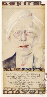Andy Warhol all is pretty By Horst Janssen ,1979