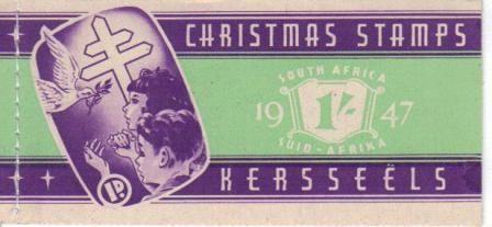 UNION SA 1947 1S CHRISTMAS BOOKLET COMPLETE