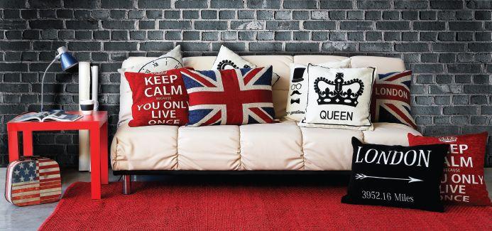Dale un toque juvenil a tus ambientes con  estos cojines de #UK para decorar el dormitorio o un sofá.  #London #Deco #Vintage #EasyTienda #TiendaEasy