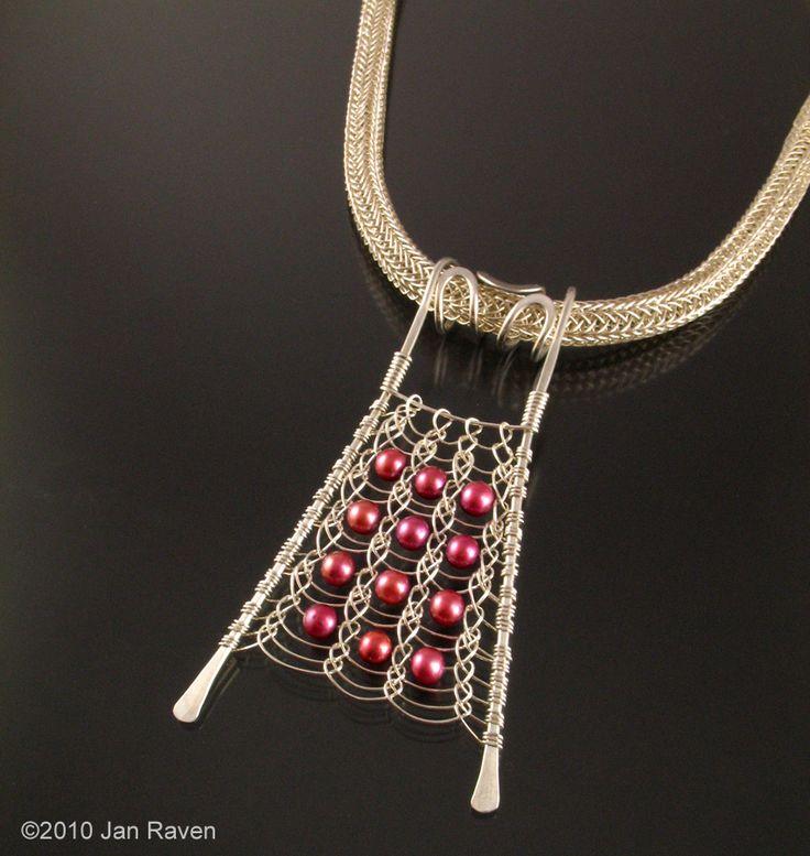 Viking Knit Pendant - Flat!   JewelryLessons.com