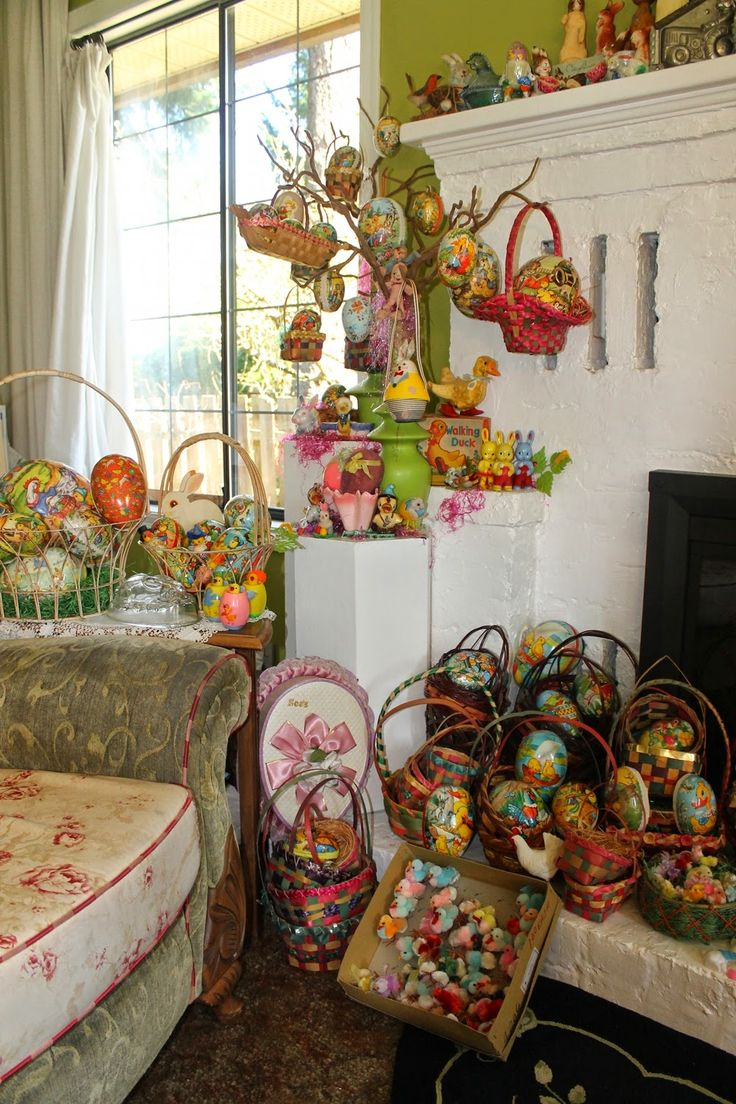 41 best easter elf images on pinterest vintage easter easter happy holidays some of my vintage easter decorations negle Choice Image