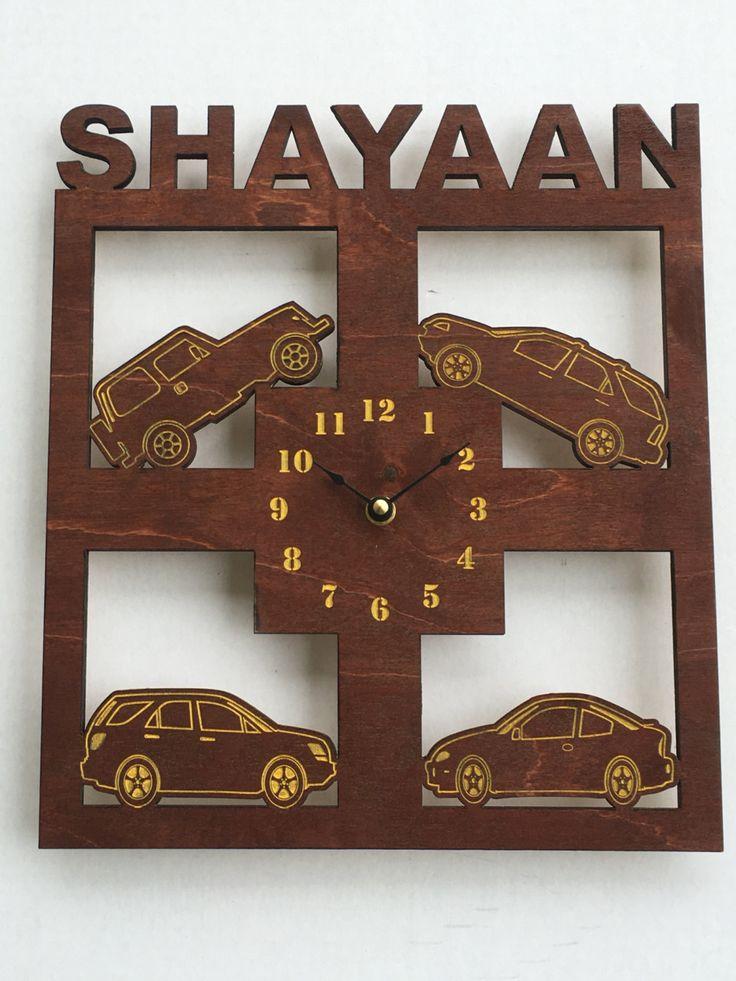 Cars wall clock, cars, wall clock, clock, large wall clock, Personalized clock, wood wall clock, kids clock, custom clock, large clock