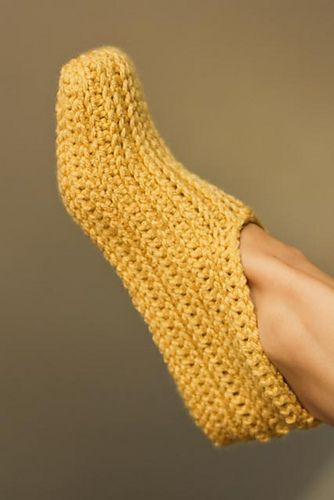 Ravelry: Adult knit-look Crochet Slippers pattern by Tara Murray