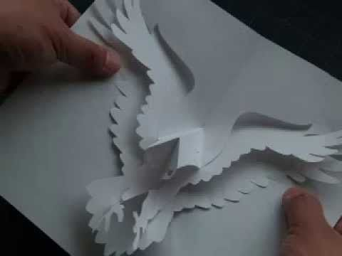 How to Make a Kirigami Eagle Pop-up Card | kirigami | Pinterest ...