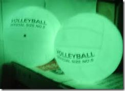glow in the dark volleyball- i can do this!
