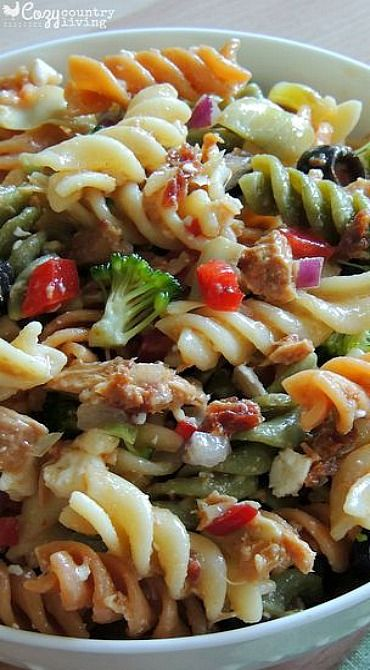 Italian Tuna Pasta Salad - add capers.