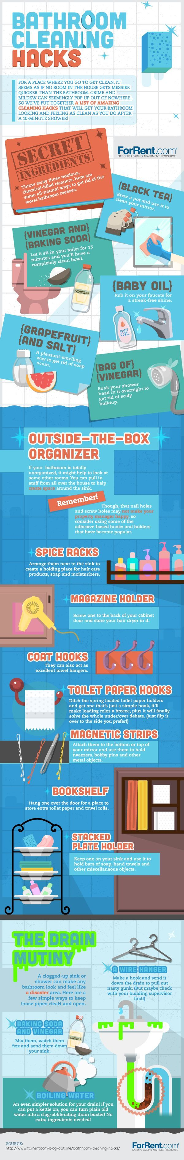Bathroom cleaning hacks to help you make your bathroom squeaky clean!