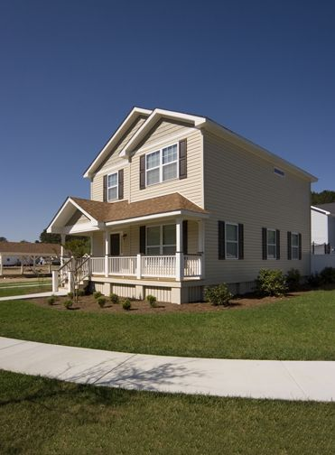 A Two Story Home Designed For A Narrow Lot. Visit Www.allamericanhomes.com
