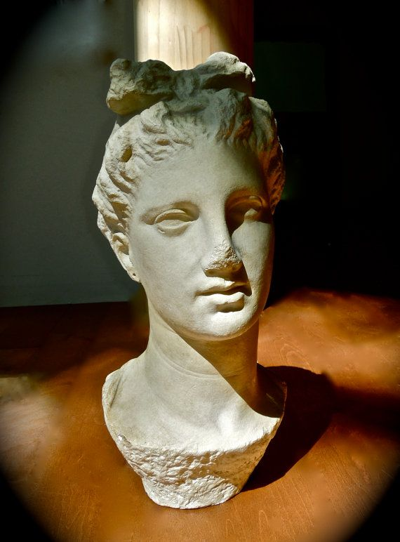 GREEK STATUE Head of Young Greek WOMAN by NestHomeDecorLife, $1200.00