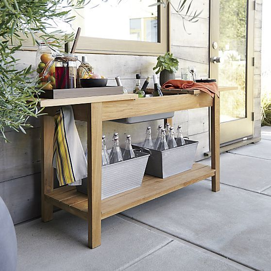 """Regatta Console-Bar-Work Station in Outdoor Side Tables 