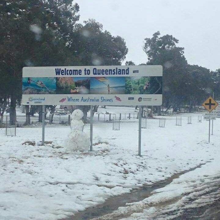 #QLD #SunshineState #Snow July 2015