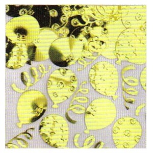 Confetti Party Balloons Embossed - gold 1/2 oz.