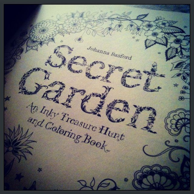 Found This Amazing Book At Urban Outfitters Store In Asheville NC Secret Garden An Inky Treasure Hunt And Colouring