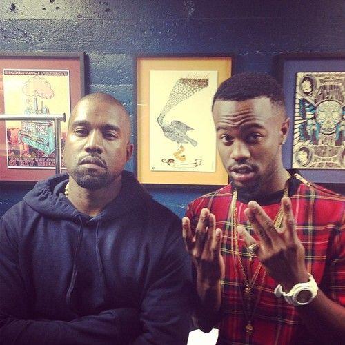 Casey Veggies & Kanye West.