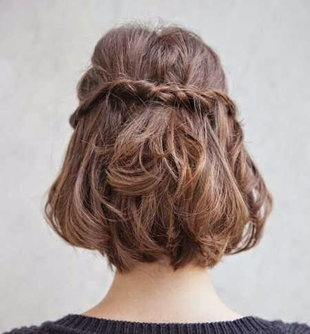 Back View Twisted Braid Hairstyle 20-Short-Braided-Hai