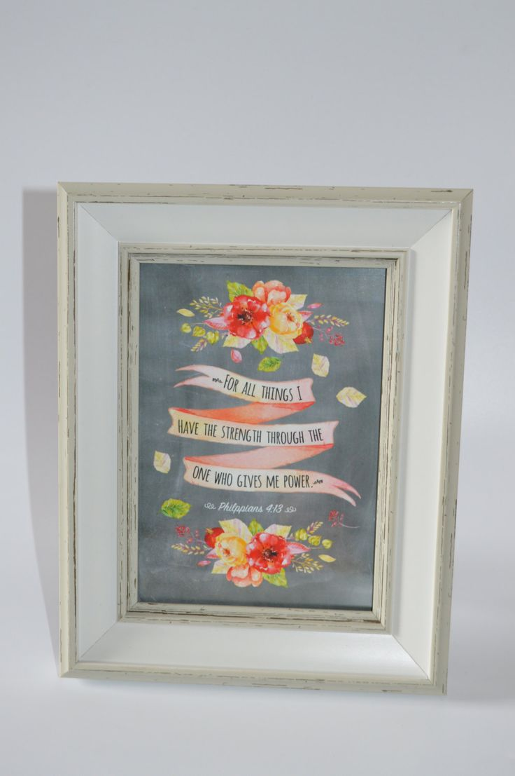 """Scripture Art - JW - NWT Philipians 4:13 """"For all things I have the Strength.."""" by HappySheepCards on Etsy"""