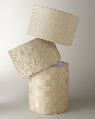 Raffia & Abaca Lamp Shades at Horchow.