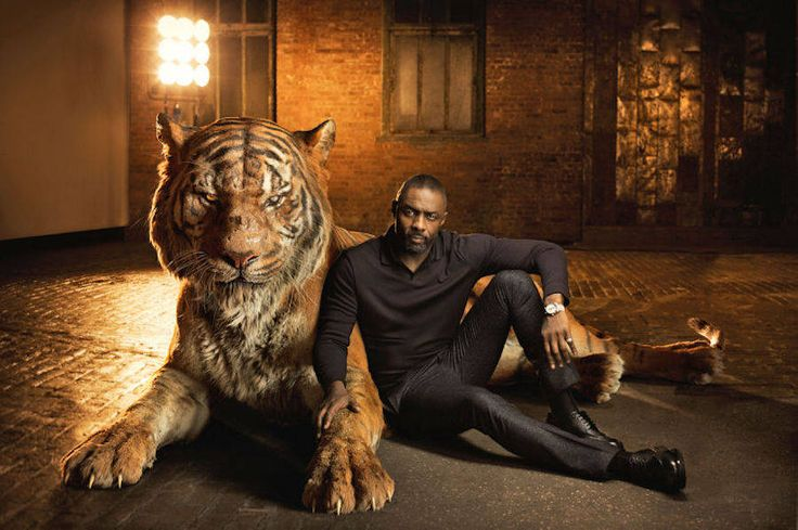 The Jungle Book Actors Posing with Their Animals Characters – Idris Elba is Shere Khan