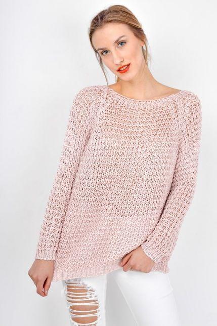 205dc2f9d04b Dámsky ružový pletený sveter