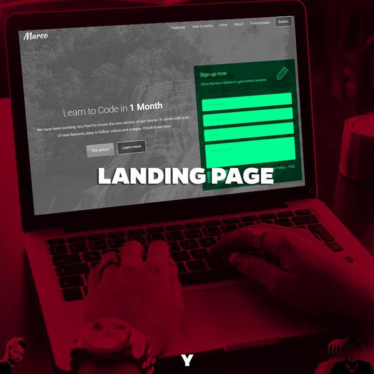 As Landing Pages (páginas de destino ou páginas de captura) são páginas web desenvolvidas para gerar tráfego, focando exclusivamente na conversão de usuários em leads (potenciais clientes) e leads em clientes.   Geralmente a conversão acontece através de uma oferta, onde o usuário para obter a oferta deverá informar seu e-mail ou telefone. Assim, a empresa capta informações importantes de contato e transforma um mero usuário visitante em um potencial cliente.