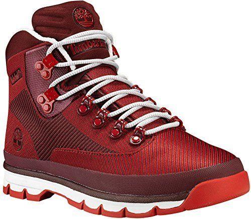 2ad53942efe Timberland Mens EURO Hiker Jacquard Hiking Boot Medium Red/Haute Red ...