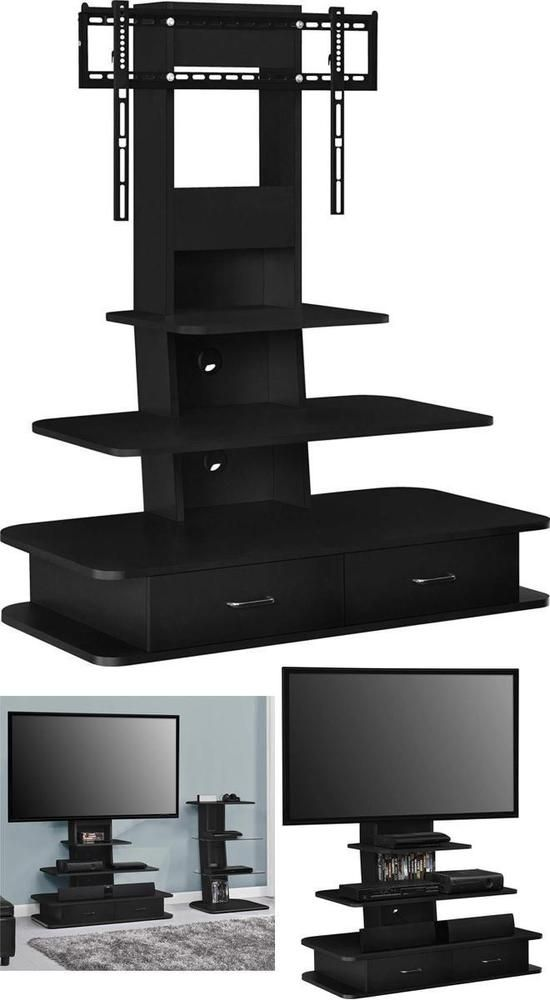 Ameriwood Home Galaxy Tv Stand With Mount And Drawers For Tvs Up To