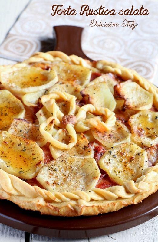 Torta rustica salata con Patate e Scamorza