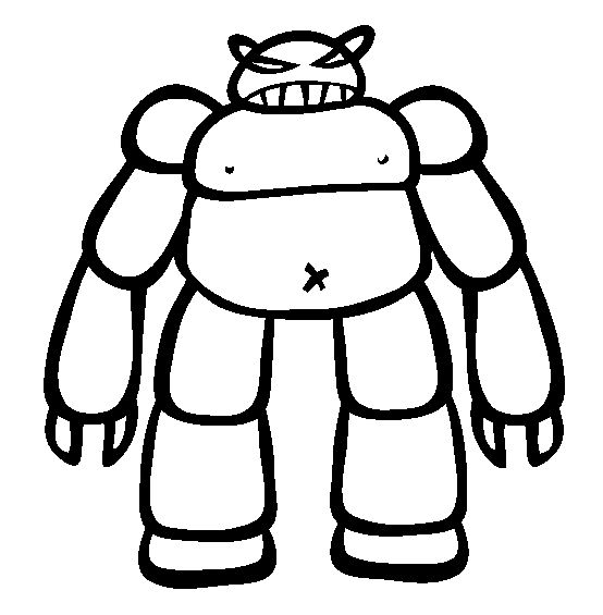 Robots Evil Giant Robot Coloring Pages For Kids Printable
