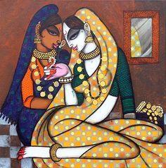 Buy 'Rhythmic13' a beautiful painting by Indian Artist Varsha Kharatmal