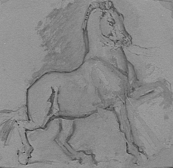 Cheval pour Diomède  Moreau Gustave (1826-1898)  Paris, musée Gustave Moreau