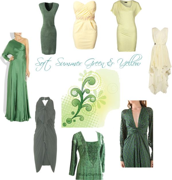 """""""Soft Summer Green and Yellow"""" by sabira-amira on Polyvore"""