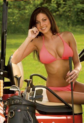 girls showing breasts at golf tournaments