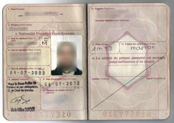 Date de validité du passeport correspond à la date d'expiration
