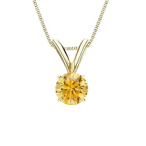 Diamantanhänger Solitär 0.25 Karat gelber Diamant 14K Gelbgold für nur 999 Euro #diamantanhaenger #weissgold #gelbgold #rosegold #gelber_diamant #schmuck #kette #collier #juwelier #abt #dortmund #karat