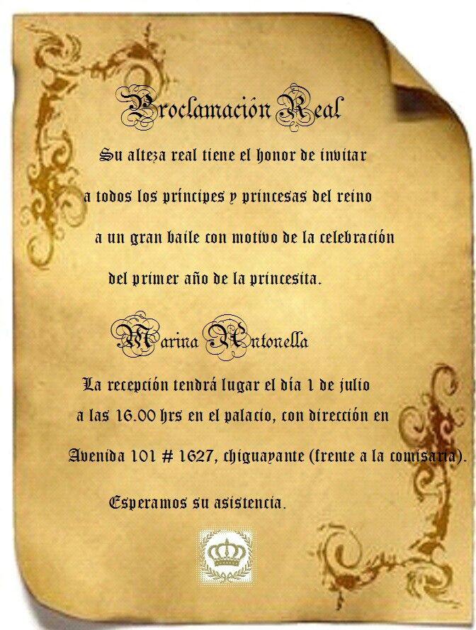 Invitacion niños cumpleaños princesa