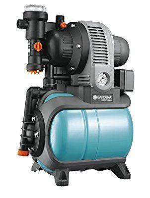 Gardena 1753-20 Pumpe Hauswasserwerk Classic 3000/4 Eco, mit Trockenlaufsicherung, Rückschlagventil; Start/Stop (Motorleistung 650W, Max. Fördermenge 2800 l/h, Gewicht 13,6kg)