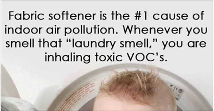 Fabric softener ads often portray an image of comfort, freshness and sweetness. Yet most fabric softeners contain a grim list of known toxins which can enter your body through the skin and by inhalation, causing a wide range of health problems, particularly for young children. (adsbygoogle = window.adsbygoogle    []).push({});...More