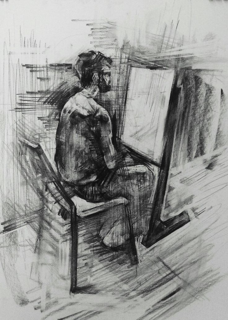 #art #drawing #sketch #male #figure #artwork #charcoal #student