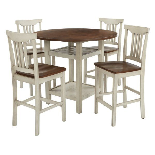 Eastep 5 Piece Counter Height Breakfast Nook Dining Set