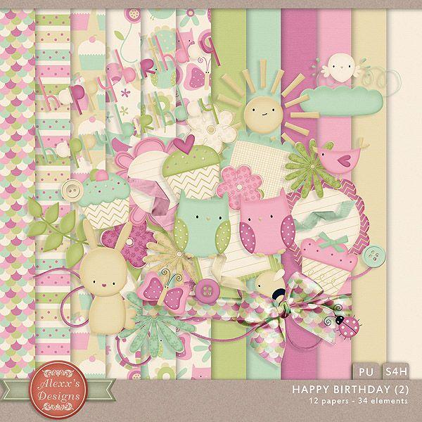 Happy Birthday (2) Kit by Alexx's Designs