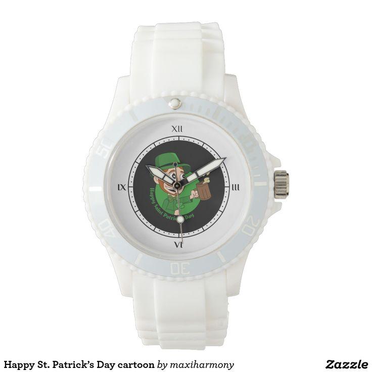 Happy St. Patrick's Day cartoon Watch