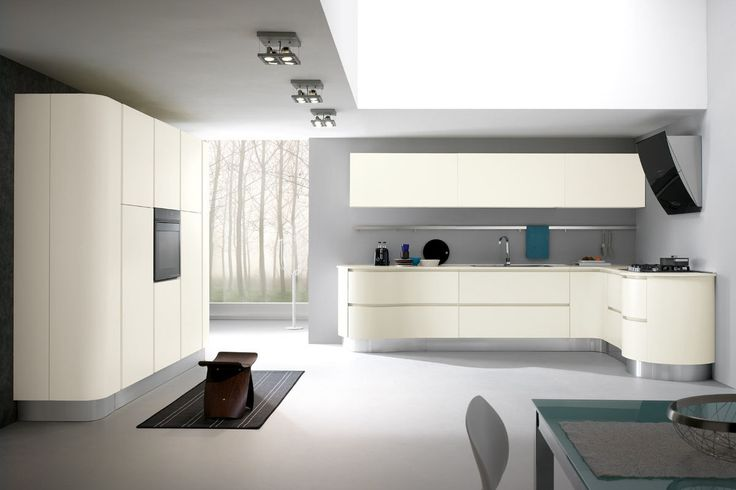 Madrid Line: With a strong personality, this kitchen with smooth lines and curves, embrace your space and your style. http://www.spar.it/sp/it/arredamento/cucine-mad-4.3sp?cts=cucine_moderne_madrid